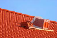 Dacheindeckung-Dachplattenstapel-Port